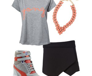 gray, outfit, and Polyvore image