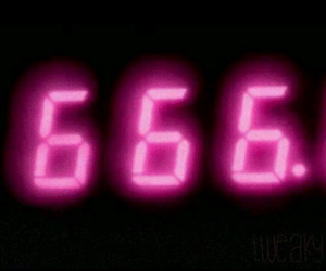 pink, 666, and grunge image