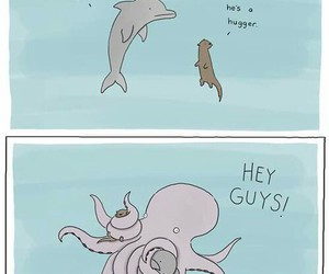 funny, hug, and octopus image