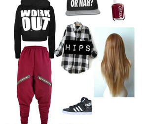 clothes, hip hop, and outfit image