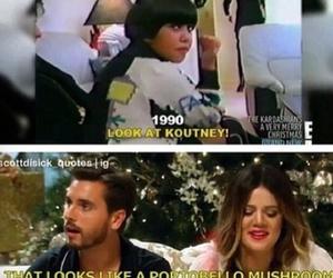 funny, kourtney kardashian, and scott disick image