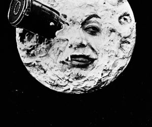 moon, black and white, and rocket image