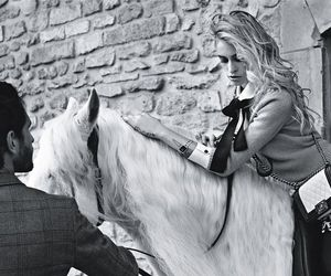 horse, chanel, and model image