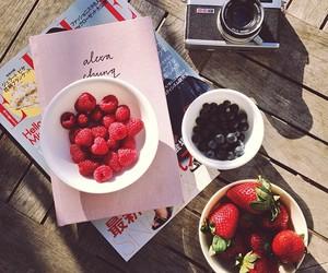 strawberry, fruit, and camera image