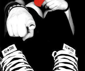 heart, emo, and converse image