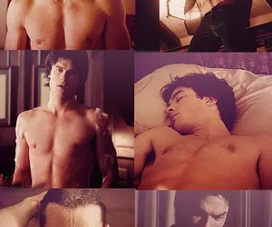 damon, vampire, and the vampire diaries image