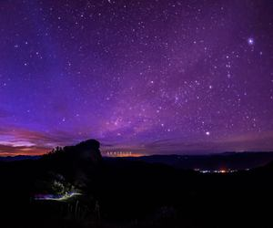 galaxy, chiang mai, and stars on the sky image