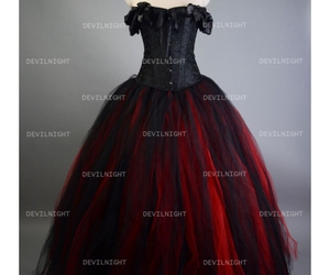 gothic corset dress, gothic party dress, and gothic ball gowns image