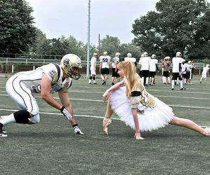 football and ballet image