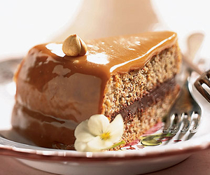 cake, food, and caramel image