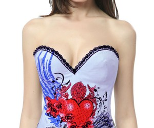 white corset, cheap corset overbust, and corset overbust wholesale image