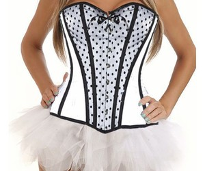 white corset and cheap overbust image