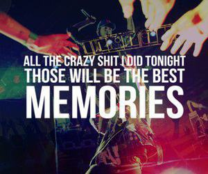 memories, party, and text image