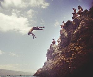 jump and sea image