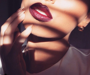 lips, fashion, and makeup image