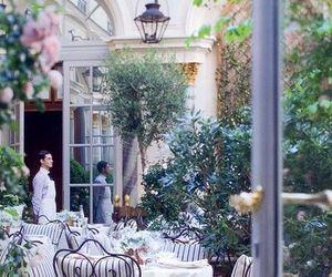 paris, garden, and restaurant image