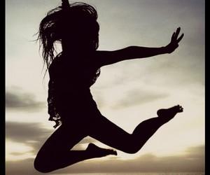 beautiful, girl, and jump image