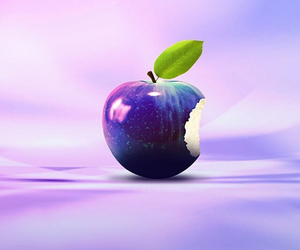 apple, purple, and pink image
