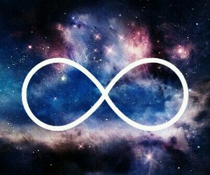 infinity, forever, and galaxy image