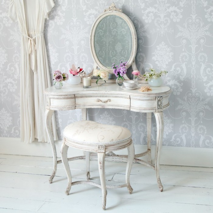 Dandy Antique Vanity Table For Your Home Sale Retro Tables Dressing Vintage Classic Cyan Color Set Furniture With
