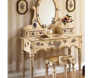 dressing table, etsy, and restoration hardware image