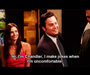 chandler, courtney cox, and crazy image