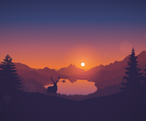 wallpaper, art, and deer image