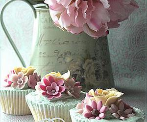 cupcake, shabby chic, and pink image