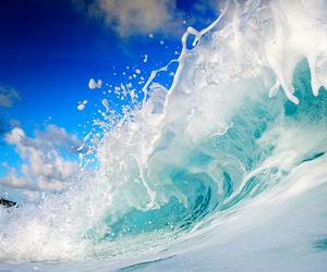 waves, sea, and summer image