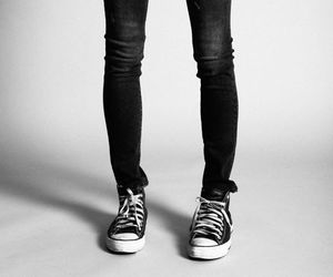 blackandwhite, style, and chuck taylor image