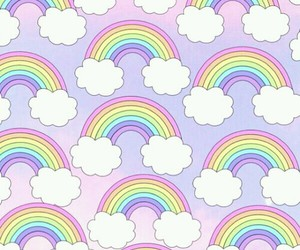 rainbow, background, and wallpaper image
