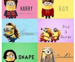 minions, harry potter, and snape image