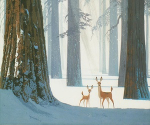forest, bambi, and deer image