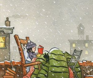 book, reading, and snow image
