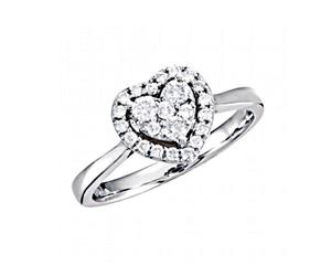 wedding ring, 14k white gold, and diamond heart ring image