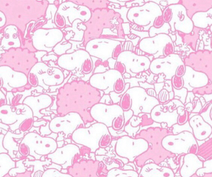 snoopy, pink, and wallpaper image