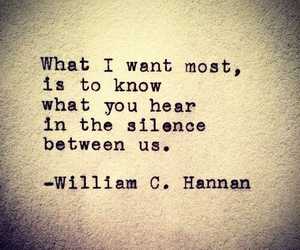 silence, quote, and hear image
