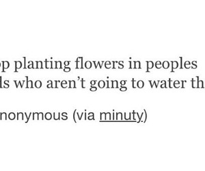 flowers, people, and qoute image