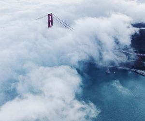 clouds, bridge, and sky image