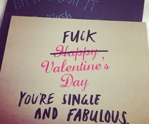 fabulous, Valentine's Day, and single image