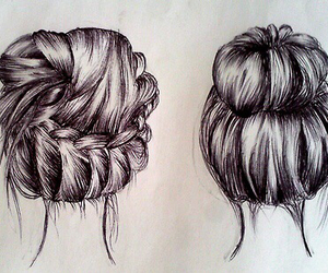 buns and hairstyles image