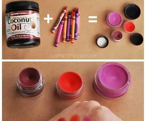 diy, lipstick, and crayon image