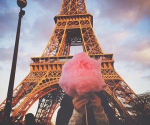 paris, pink, and cotton candy image