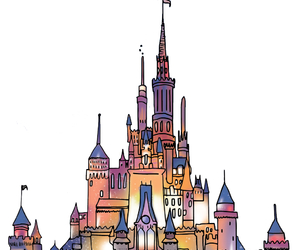 disney, castle, and overlay image