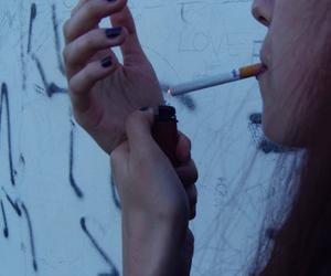 dark, girls, and smoke image