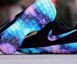 nike, shoes, and galaxy image