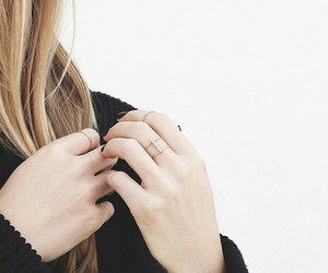 blonde, ring, and girl image