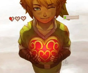 link, heart, and game image