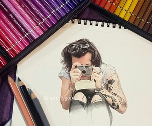 Harry Styles, drawing, and one direction image