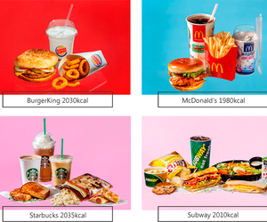 calories, fast food, and food image